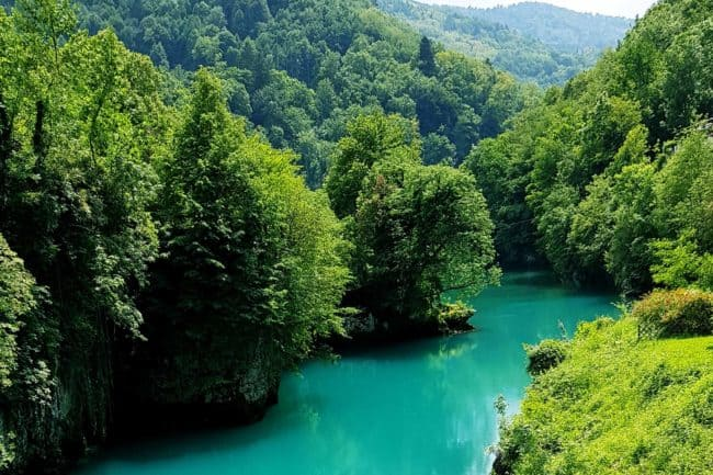 Soca River is a 138 km (86 mi) long river that flows through western Slovenia and northeastern Italy.