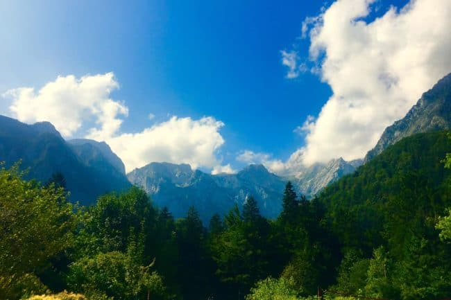 Blue skies over Slovenian mountains - come and enjoy them with us
