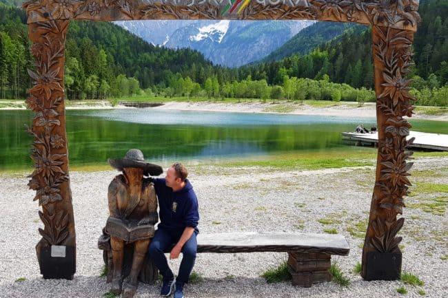 Lake Jasna's sculpture in Kranjska Gora - a gem in Slovenia - Lake Jasna