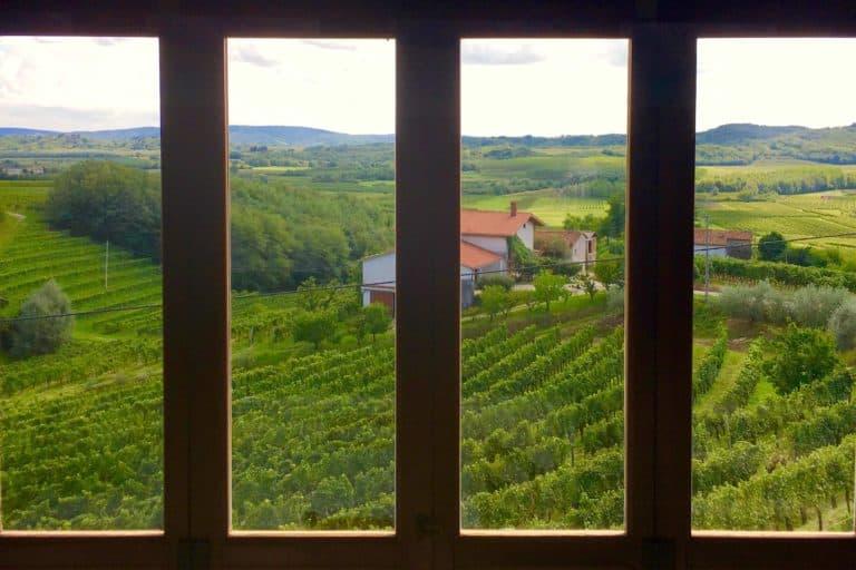 Winery views Goriska Brda in Slovenia - A day night