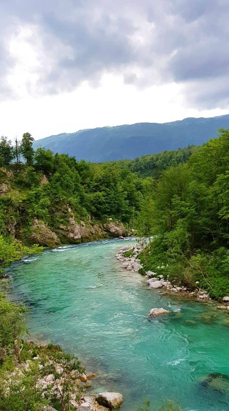 Soca river a beautiful view - Soca River in Slovenia