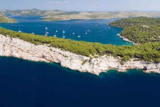 Croatian seaside is beautiful and lush