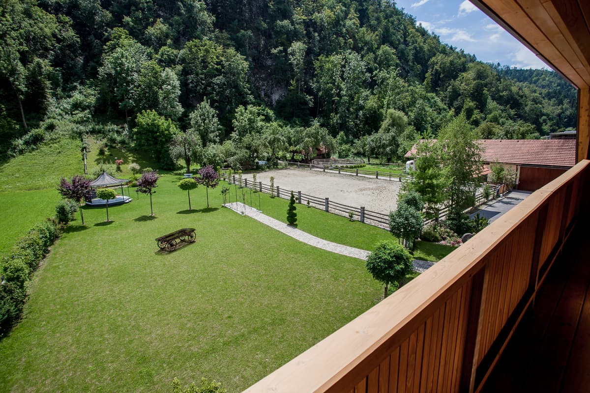Gotilna Repnik - view from the balcony
