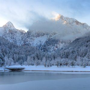 Lake Jasna in winter - Explore Slovenia Christmas